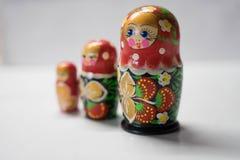 Russische het nestelen poppen - herinnering van Rusland royalty-vrije stock foto