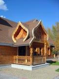 Russische houten architectuur Royalty-vrije Stock Foto's