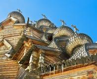 Russische houten architectuur Stock Afbeeldingen