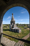Russische houten kerk Stock Foto's