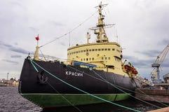 Russische icebreaker Royalty-vrije Stock Foto's