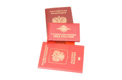 Russische identificatiedocumenten Royalty-vrije Stock Foto's