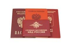 Russische identificatiedocumenten Stock Fotografie
