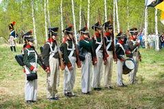 Russische infanterie Stock Afbeelding