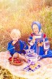Russische jonge geitjes Royalty-vrije Stock Afbeeldingen