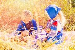 Russische jonge geitjes Royalty-vrije Stock Foto's