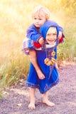 Russische jonge geitjes Stock Foto's