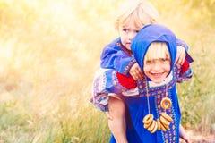 Russische jonge geitjes Royalty-vrije Stock Foto