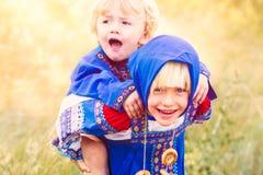 Russische jonge geitjes Royalty-vrije Stock Afbeelding