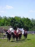 Russische Kavallerie Stockfoto