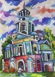 Russische kerk royalty-vrije illustratie