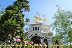 Russische kerk, Genève, Zwitserland Royalty-vrije Stock Afbeeldingen