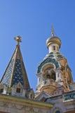 Russische Kerk in Nice Stock Afbeelding