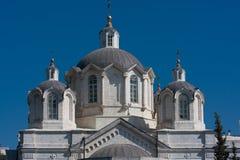 Russische kerk in Russisch Hof Jeruzalem Israël Stock Afbeeldingen