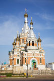 Russische kerk in Uralsk stock fotografie
