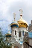 Russische Kirche in Karlovy unterscheiden sich Lizenzfreies Stockbild