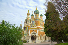 Russische Kirche in Nizza Stockfoto