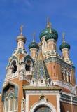 Russische Kirche in Nizza, Frankreich Stockfotografie
