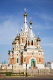 Russische Kirche in Uralsk Stockfotografie