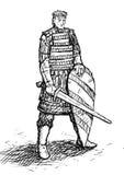 Russische Krieger Skizze Stockfoto