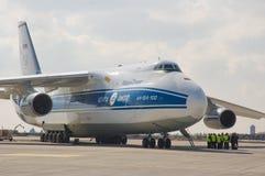 Russische ladingsvliegtuigen Stock Afbeeldingen
