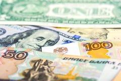 Russische Landeswährungsabwertung Lizenzfreie Stockbilder