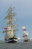 Russische lange schepen Royalty-vrije Stock Afbeelding