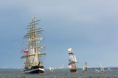 Russische lange schepen Stock Afbeeldingen