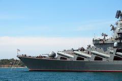 Russische Lieferung in Sewastopol stockbild