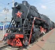 Russische locomotief royalty-vrije stock afbeelding