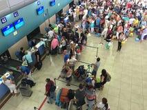 Russische luchtpassagiers in Vietnam royalty-vrije stock afbeelding