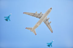 Russische Luftwaffenflugzeuge Stockfoto