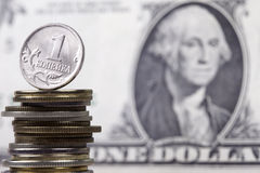 Russische Münze Copecknahaufnahme Lizenzfreies Stockfoto