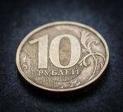 Russische Münze - zehn Rubel. Stockfoto