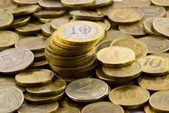Russische Münzen Stockfoto