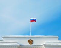 Russische Markierungsfahne Stockfotografie