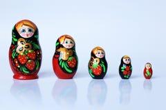 Russische matryoshka Stock Afbeeldingen