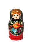 Russische matryoshka Puppe auf weißem Hintergrund Stockfotografie
