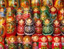 Russische matryoshka Puppen Stockbild