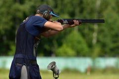 Russische Meisterschaften im Wurfscheibenschießen Stockfotografie