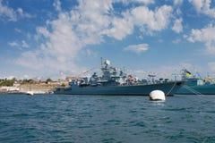 Russische Militärschiffe lizenzfreie stockfotografie
