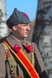 Russische militair-reenactor Royalty-vrije Stock Foto's
