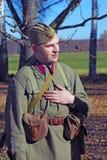 Russische militair-reenactor Stock Foto