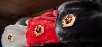 Russische militaire hoed Royalty-vrije Stock Afbeelding