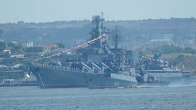 Russische militaire schepen stock videobeelden