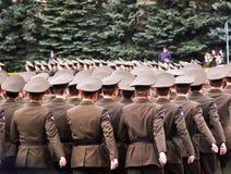 Russische militairen Stock Afbeeldingen