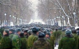 Russische Militairen Royalty-vrije Stock Afbeelding