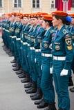 Russische militairen vrouwen Stock Fotografie