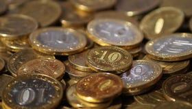 Russische muntstukken Stock Foto