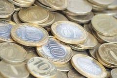 Russische muntstukken Stock Afbeelding